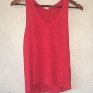 Women's J. Crew Red Tank Top